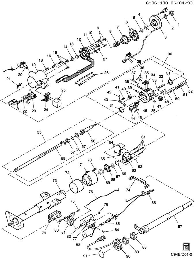 gm tilt steering column diagram