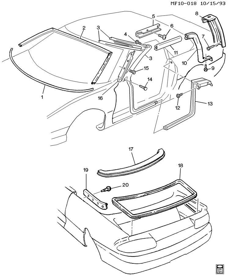 2000 pontiac sunbird rear wiring diagram