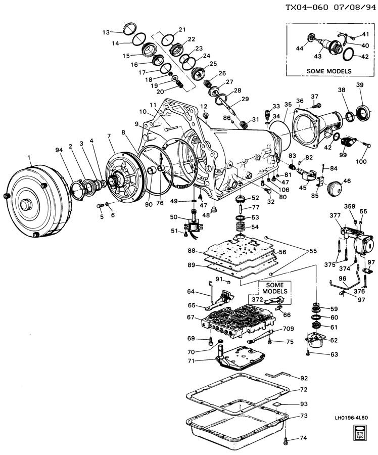 1993 Gmc 4l60e Wiring Schematic Electronic Schematics collections