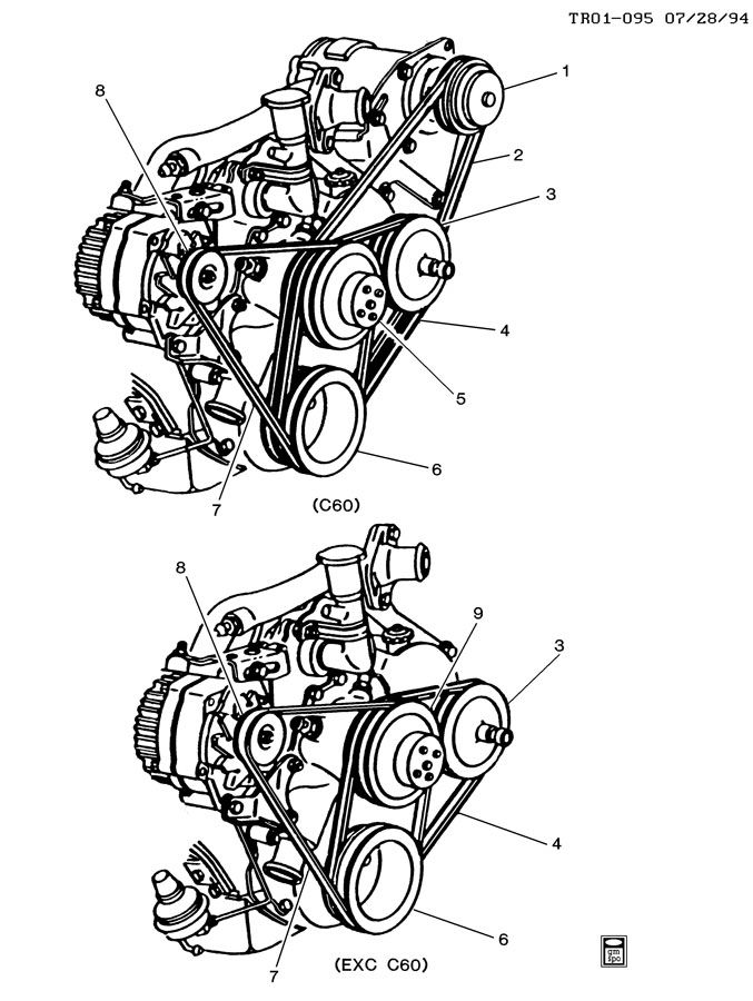 1986 gmc belt diagram