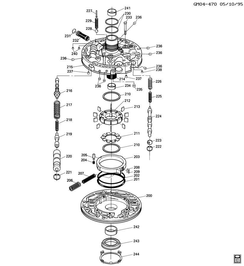 4l60e transmission pump diagram