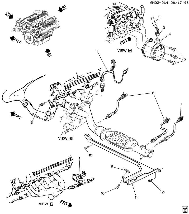 1997 Deville oxygen sensors