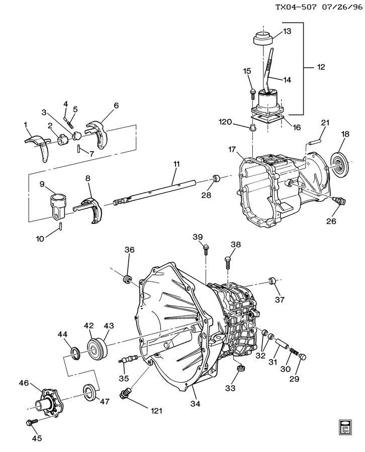 manual transmission diagram chevrolet