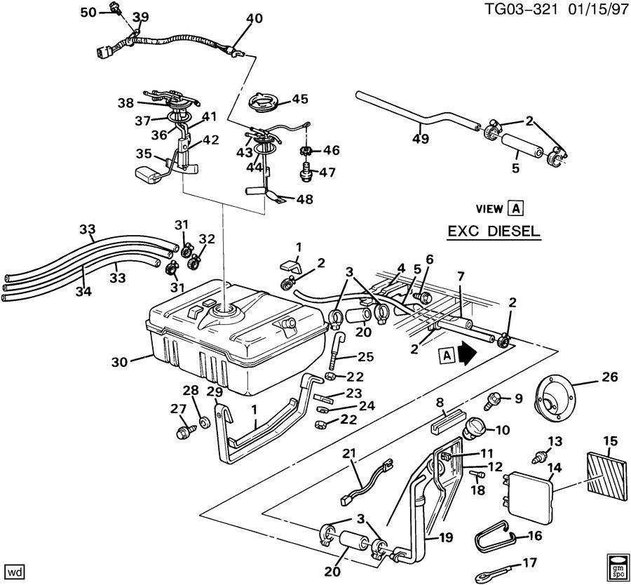 01 sport trac fuel filter location