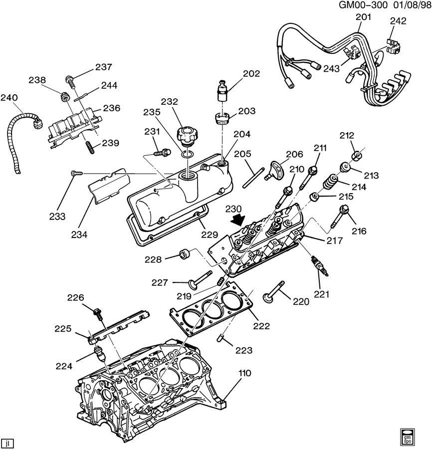 2002 buick park avenue engine diagram