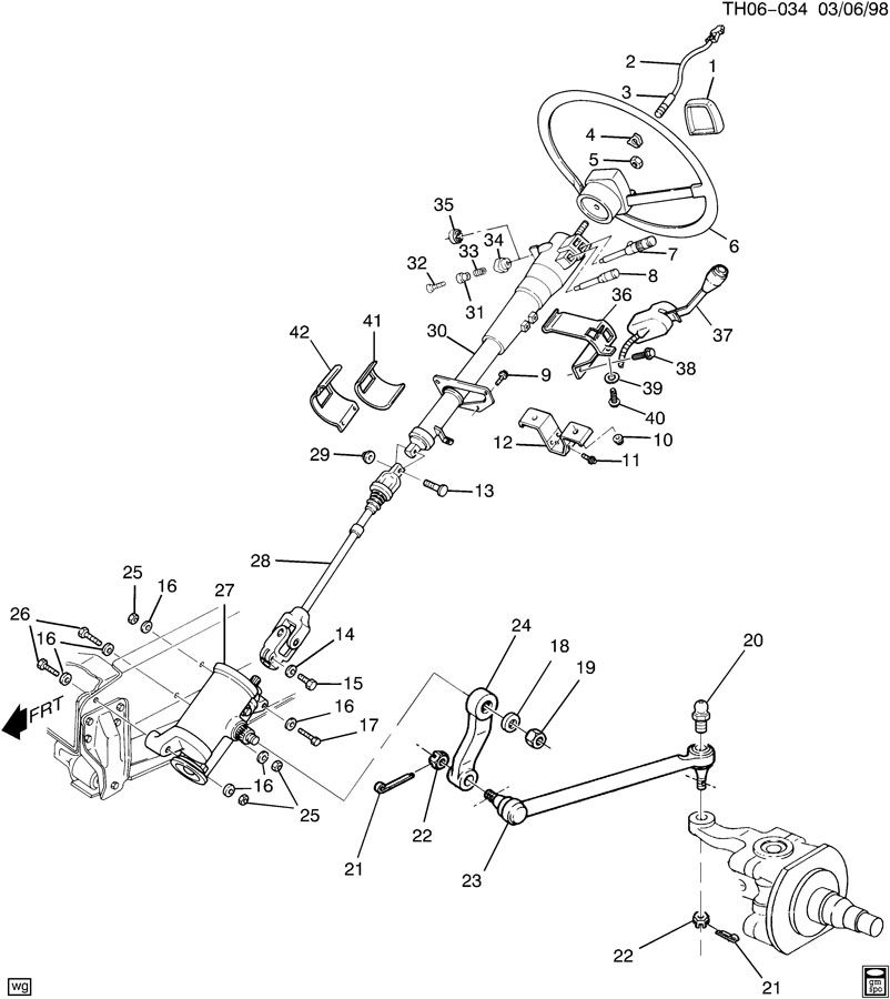 94 gmc sierra steering column wiring diagram