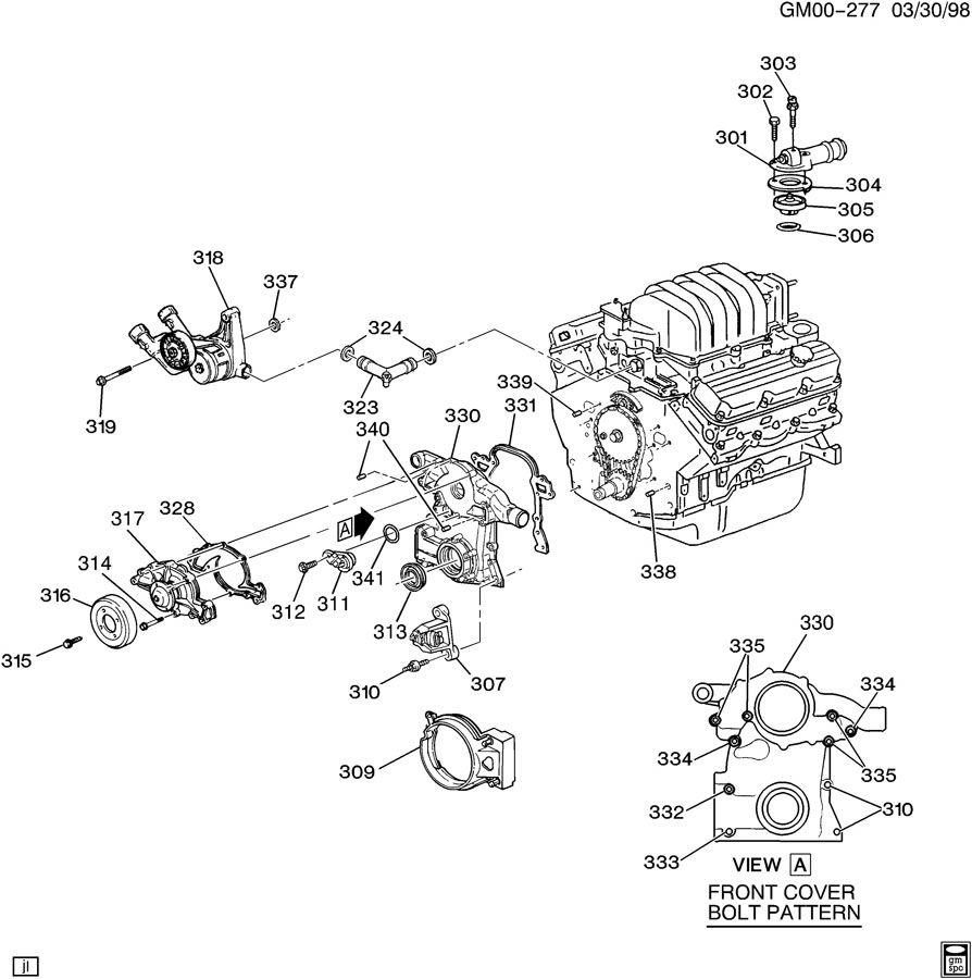 06 chevy impala v6 engine diagram