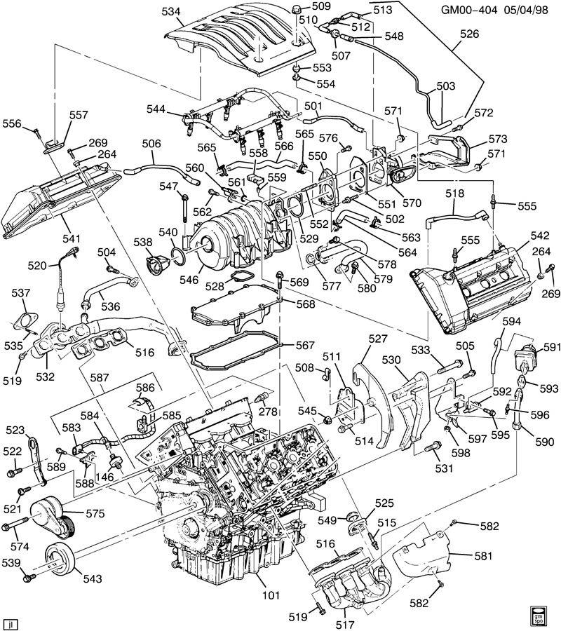 2000 oldsmobile intrigue engine diagram