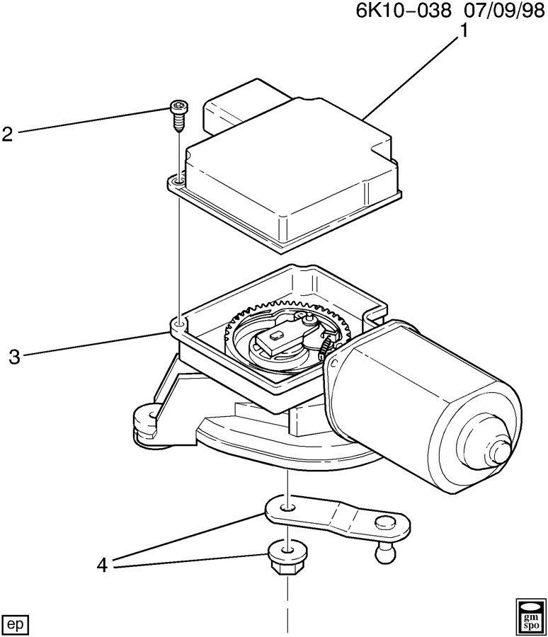 2000 cadillac deville wiper motor Schaltplang