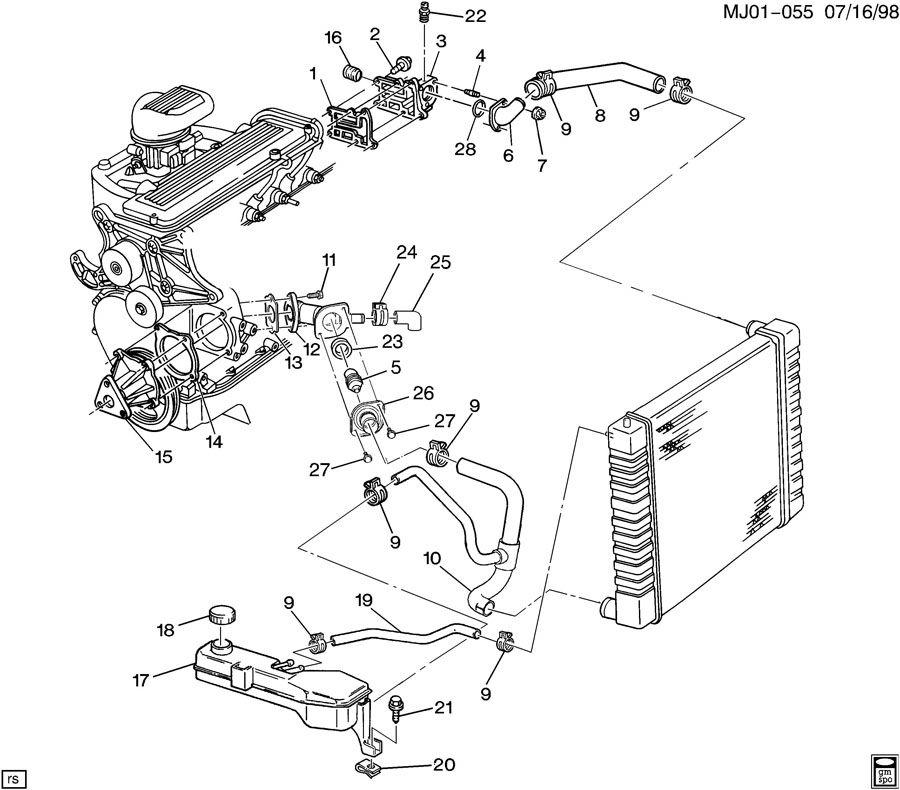 cavalier engine coolant light