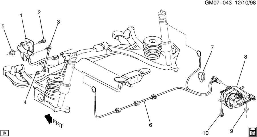 2002 buick lesabre suspension diagram