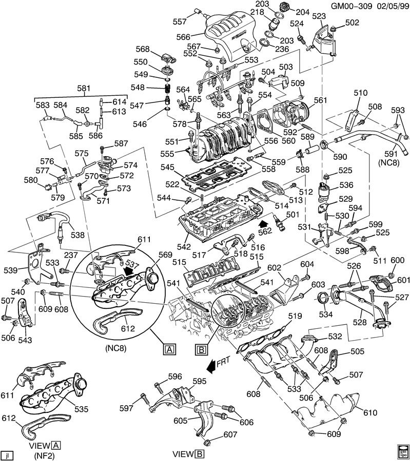 1995 chevy monte carlo engine diagram