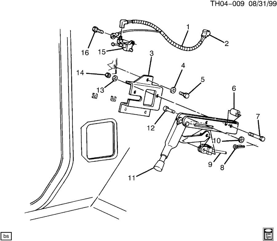cadillac crank sensor location 2001