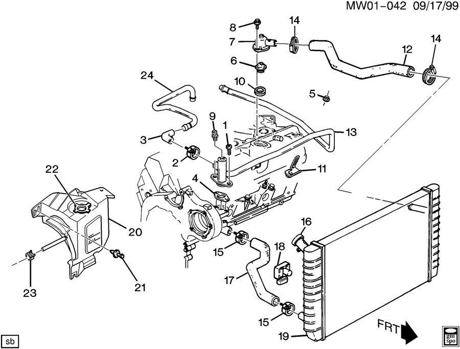1998 chevy malibu engine cooling diagram