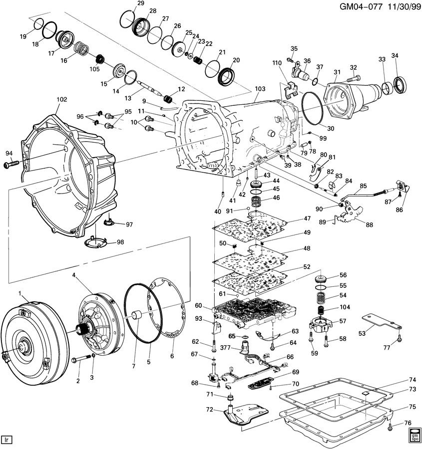 gm 700r4 automatic transmission diagrams