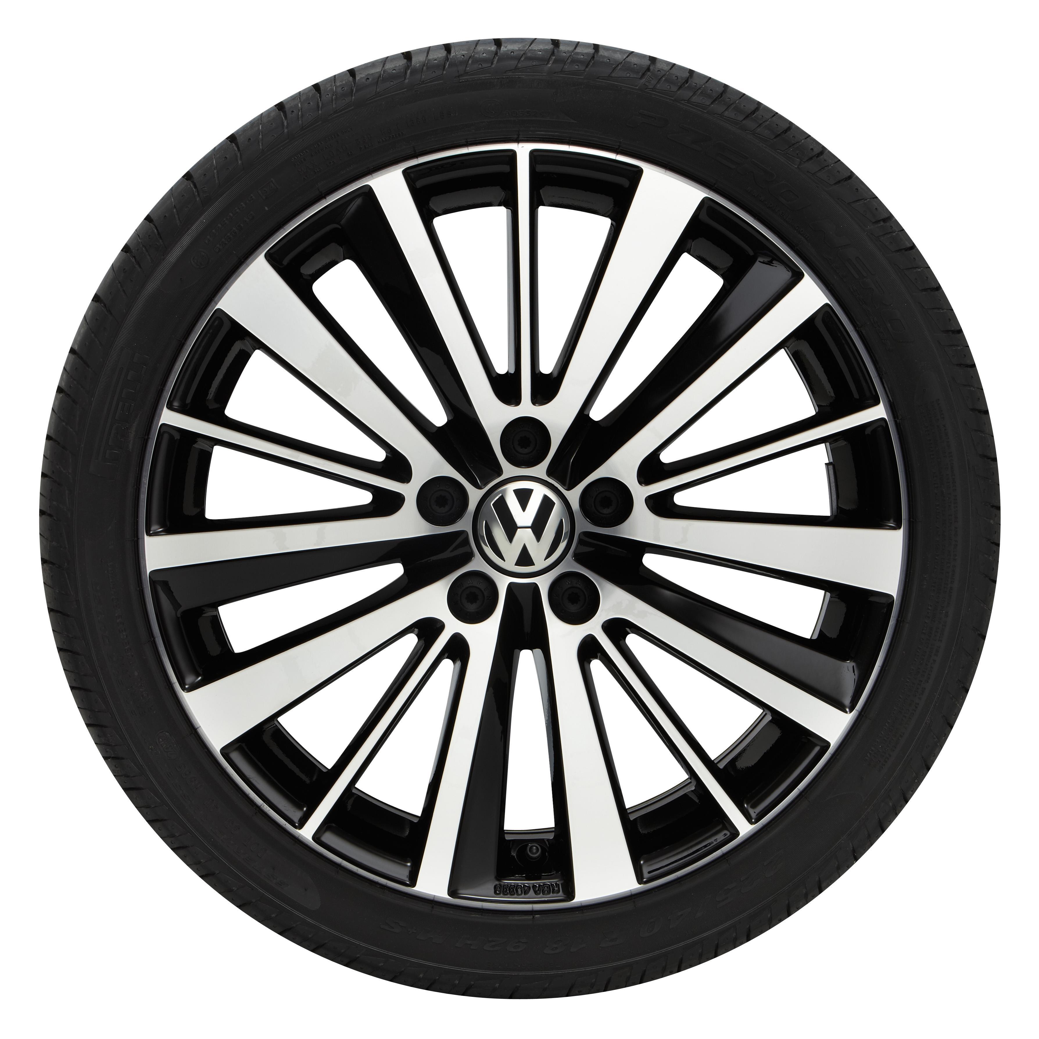 Volkswagen R32 18 Preston Wheel Silver W Black Insert