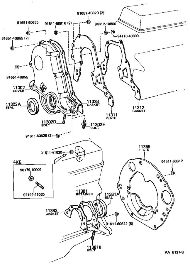 5mge toyota engine parts diagram