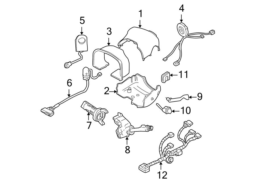 cadillac deville harness clockspring air bag steering