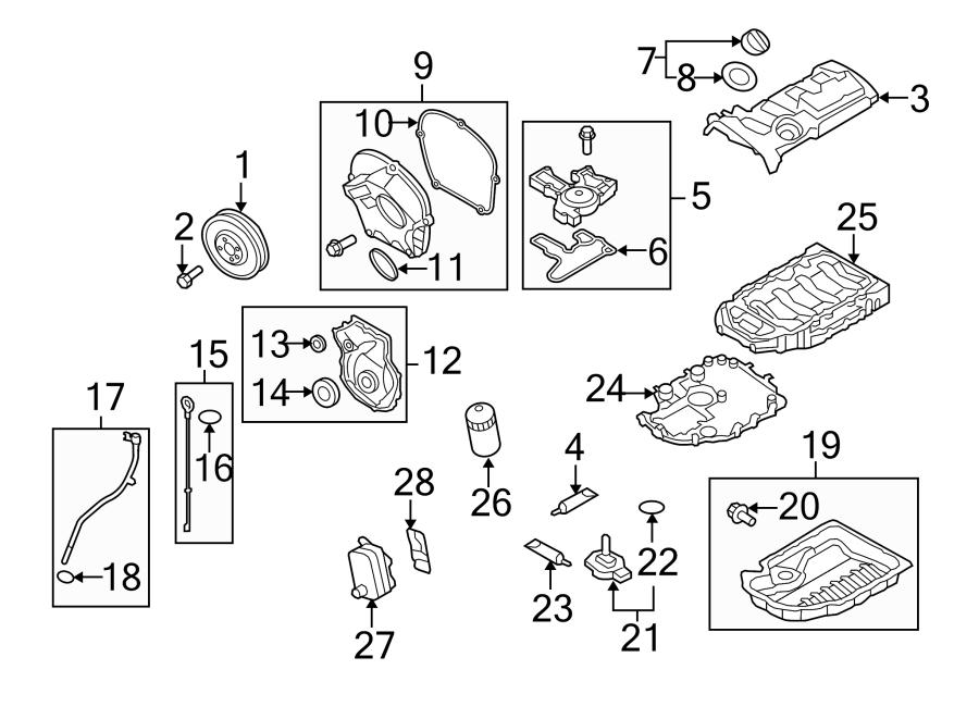 2009 vw cc Motor diagram