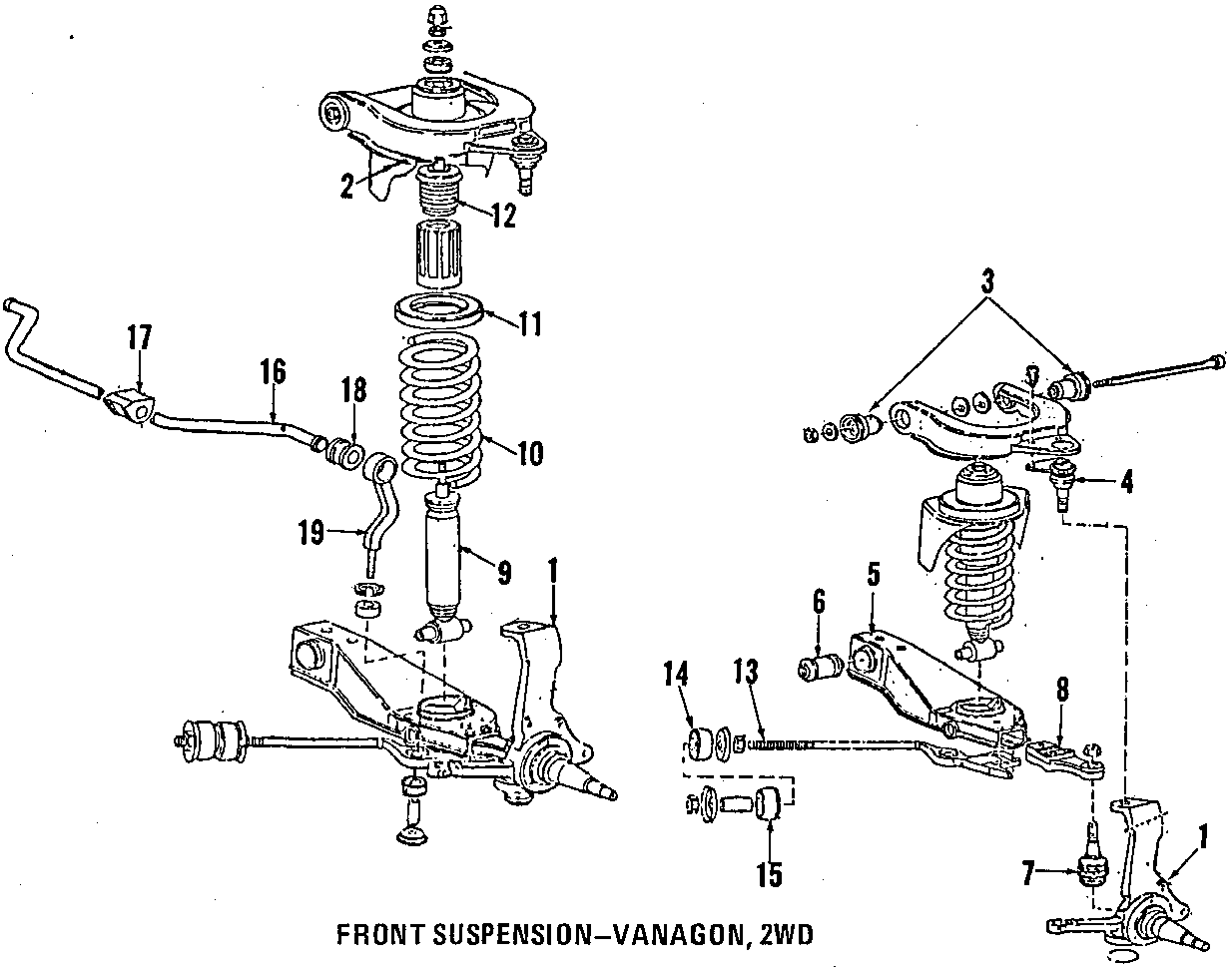 vanagon front suspension diagram