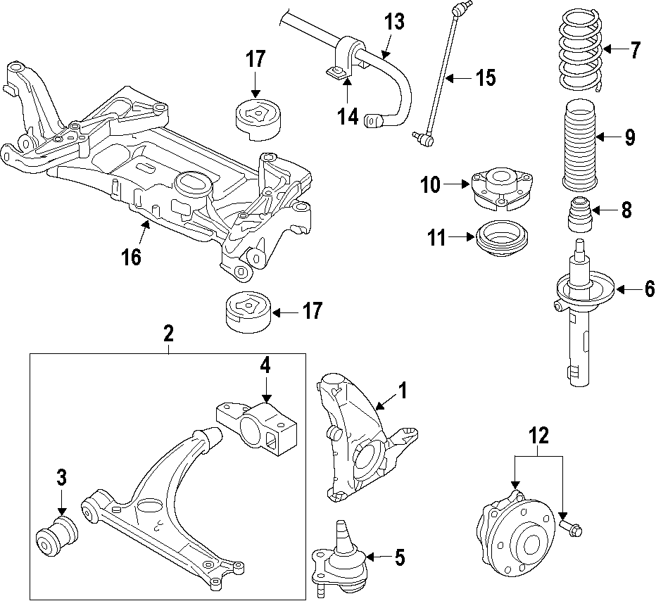 vw awd diagram