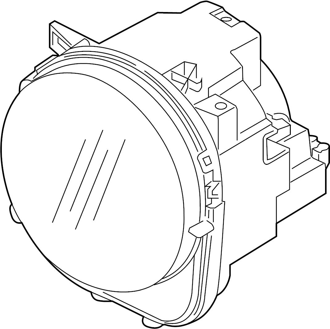 volkswagen headlight diagram