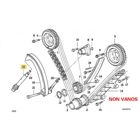 BMW NON VANOS TIMING CHAIN DIAGRAM - Parts 4 Euro Cars