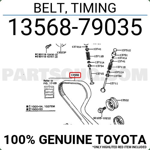 toyota timing belt list