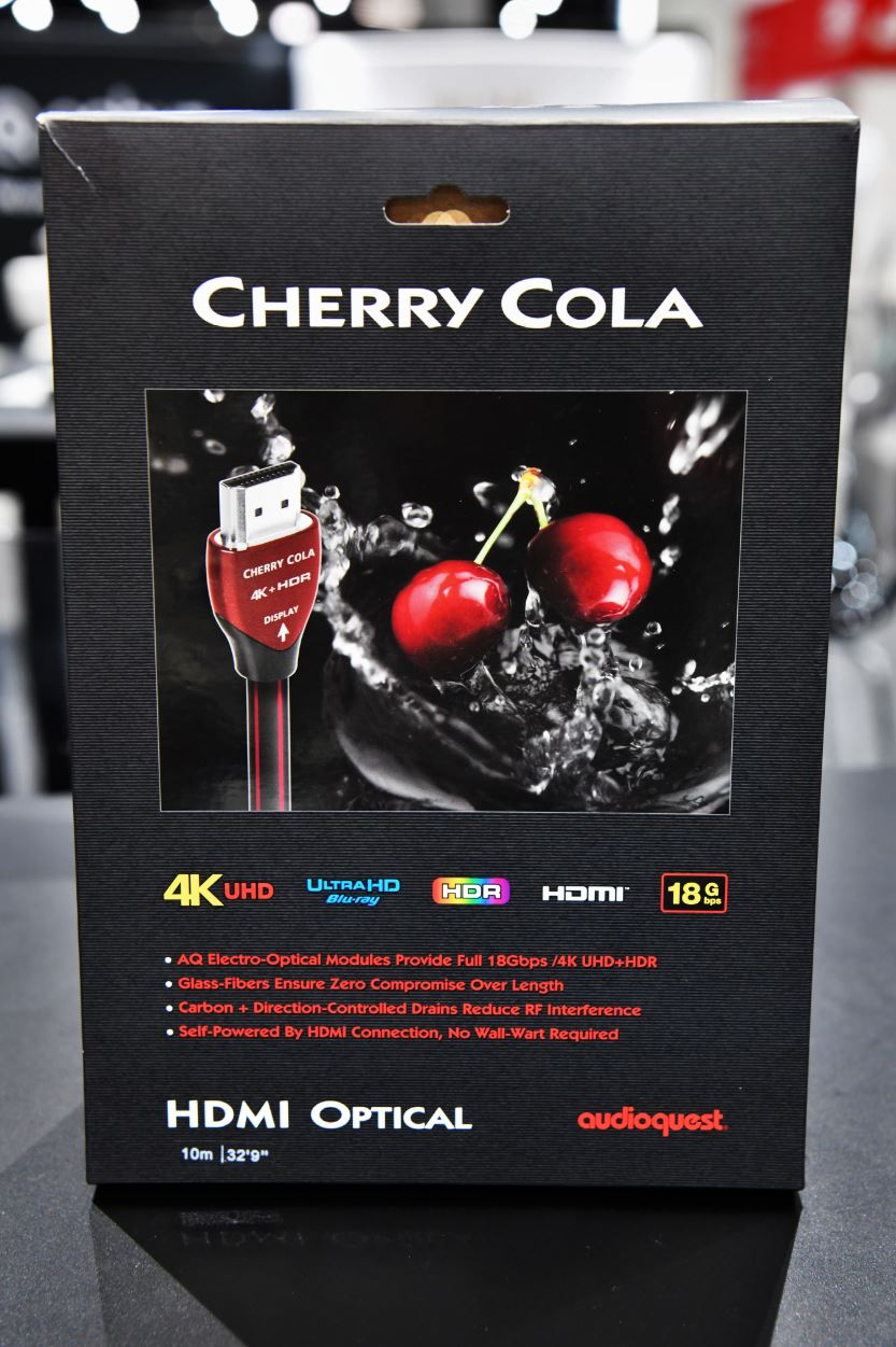 Cedia Exhibitor List Cedia 2018 Audioquest Nrg And Cherry Cola Hdmi Part Time Audiophile