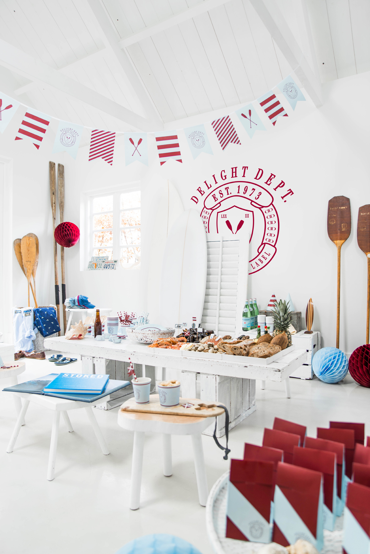 Mottoparties Girlande Quotpreppy Paddle Quot 1 Stück Party Do
