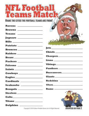 Printable Super Bowl Party Games