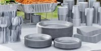 Silver Tableware - Silver Party Supplies | Party City