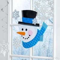 Wintry Window Decoration Idea - Party City | Party City