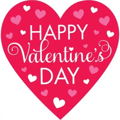 Happy Valentine S Day Cutout 15 1 4in X 15 1 2in Party City