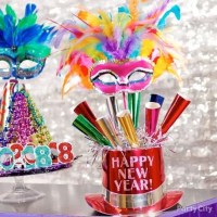 NYE Party Horn Centerpiece Idea - Party City