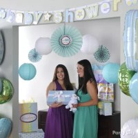 Boy Baby Shower Photo Backdrop Idea - Party City