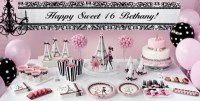 Pink Paris Sweet 16 Party Supplies - Party City