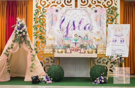 Ysla's Boho Chic Themed Party – Dessert Spread