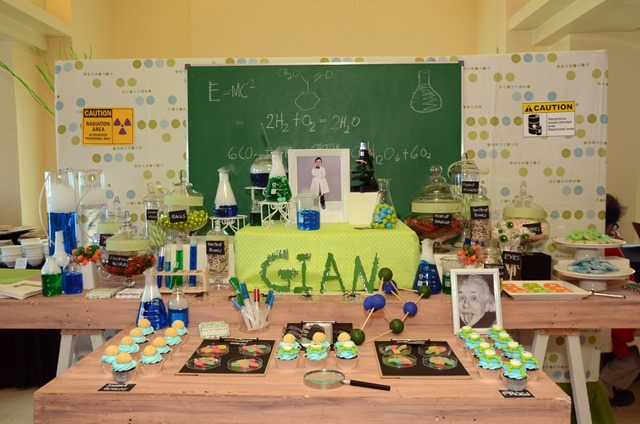 Gian's Mad Science Themed Party