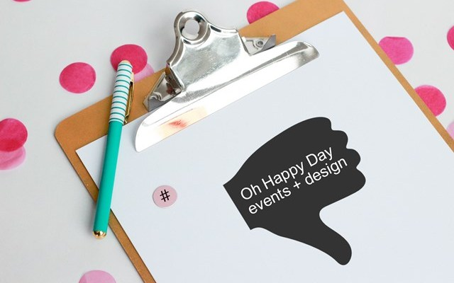 Thumbs Down: Oh Happy Day Events + Design