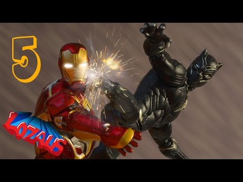 IRONMAN-STOP-MOTION-Action-Video-Part-5-with-Black-Panther-Superior-Spiderman
