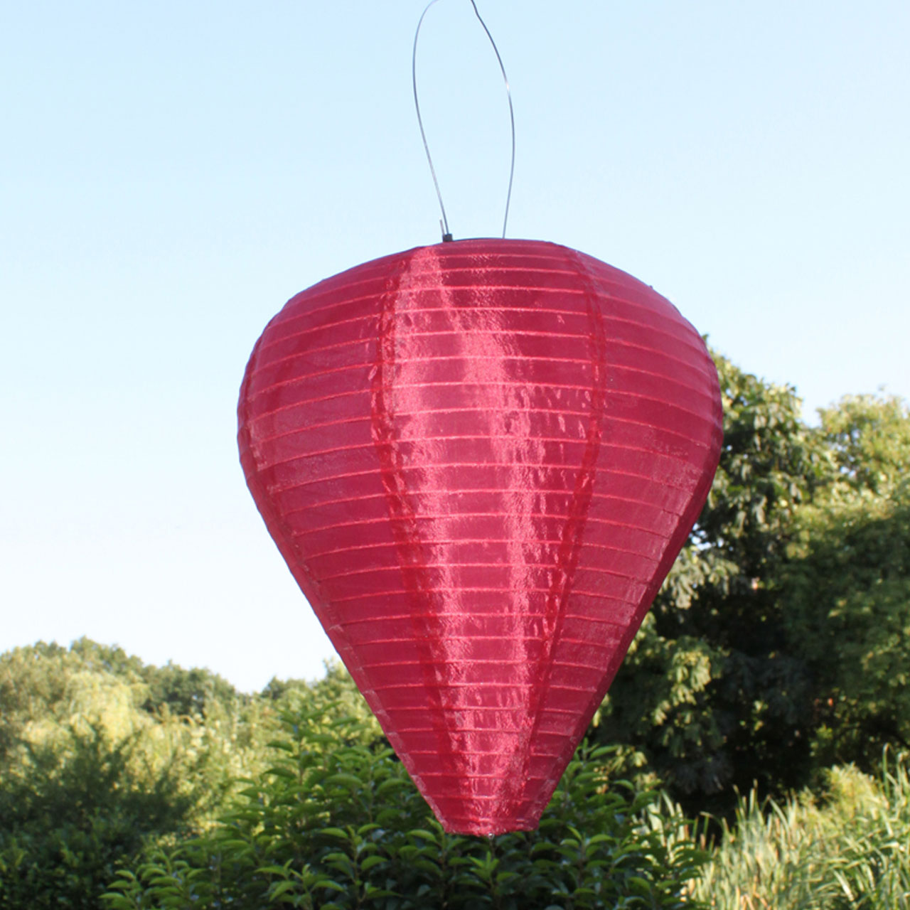 Laterne Aus Luftballon Solar Led Laterne Wetterfest Ballon Bordeaux