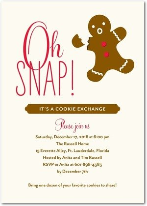 Gingerbread Party Planning, Ideas  Supplies Holiday Party Themes - holiday party invitation