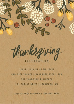 Best Thanksgiving Invitations PartyIdeaPros