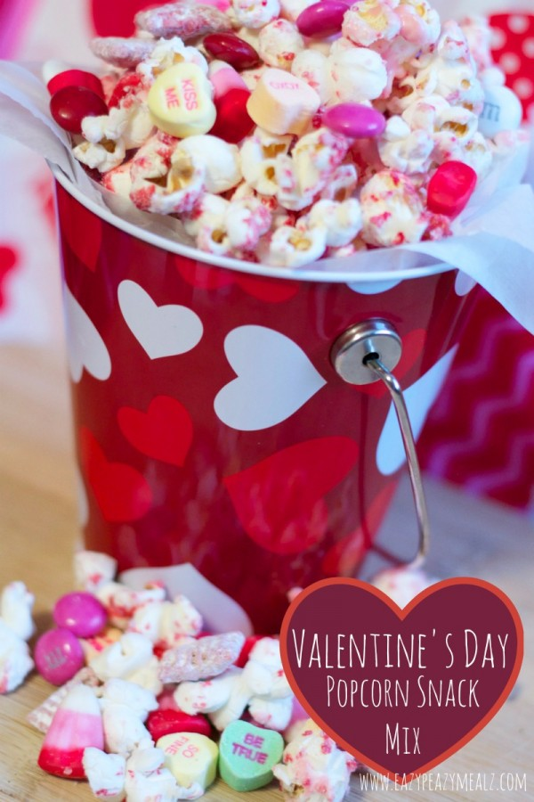Make Valentines Day Snack Mix Party Ideas