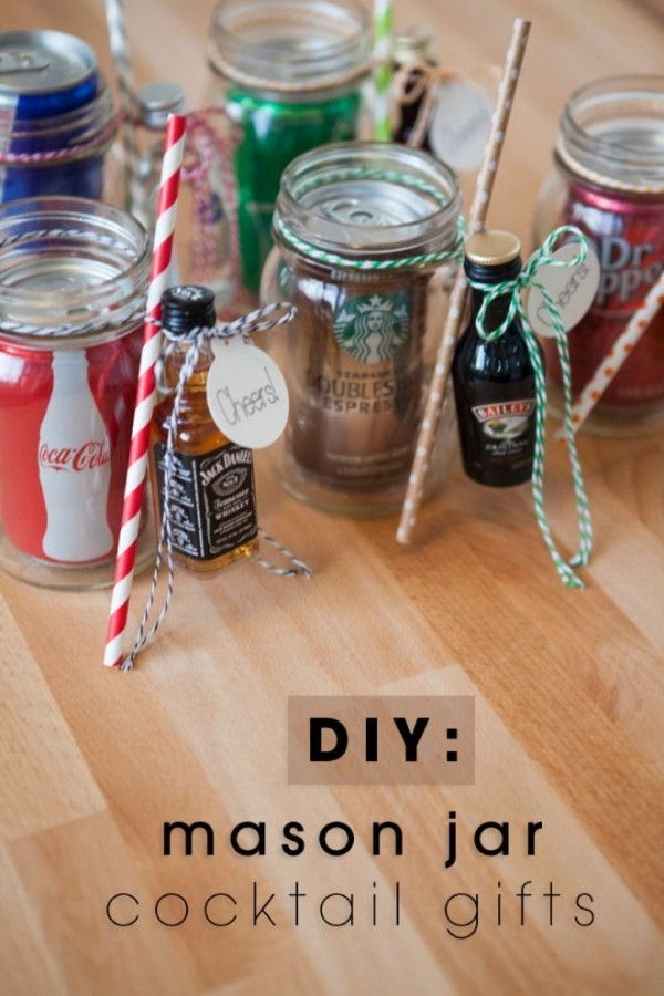 Easy Mason Jar Cocktail Party Favors Party Ideas