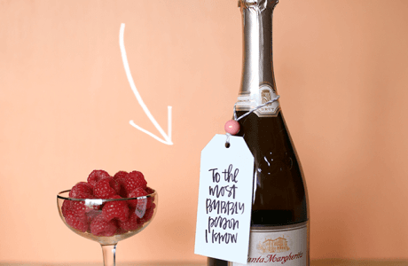 Free Printable Bubbly Gift Tags