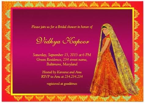 Hindu Indian Wedding Invitations Eastern Fusions - brides invitation templates