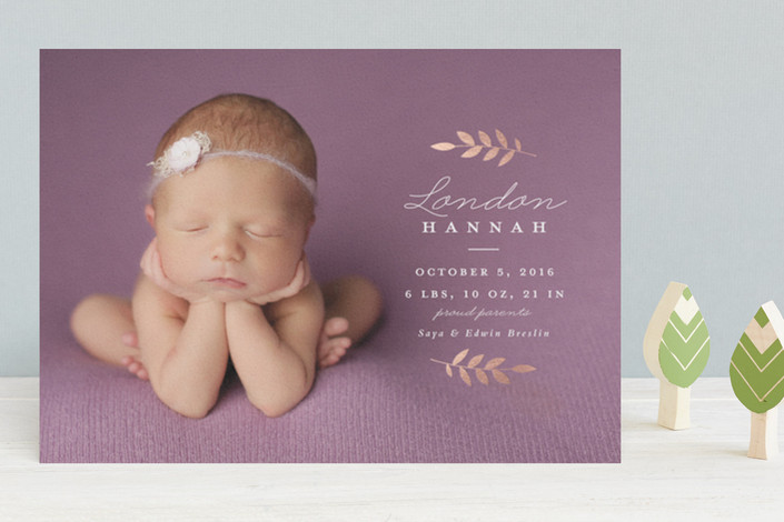 20 Adorable Baby Photo Birth Announcement Cards ⋆ partyinvitecards
