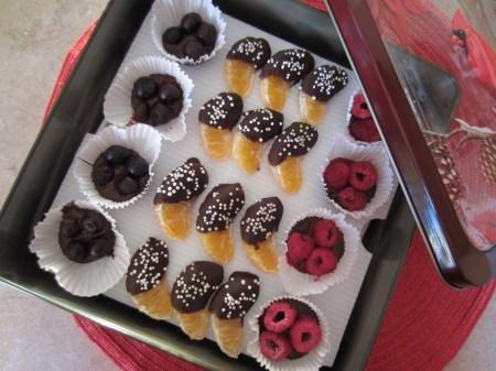 Fruit Shaped Chocolates